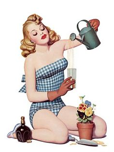 Watering Can Pin Up
