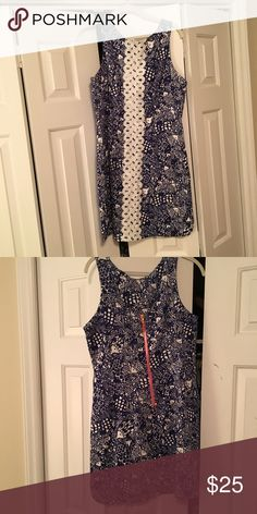 NWOT Pulitzer for Target Shift Dress NWOT Lilly Pulitzer for Target Shift Dress. Navy with white detailing. Pink zipper with pineapple pull. Lilly Pulitzer for Target Dresses