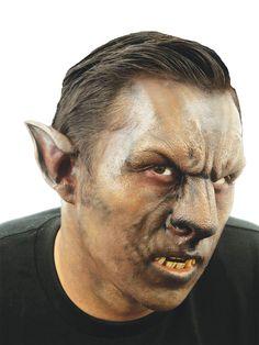 Werwolf Halloween-Latexapplikation Nase und Stirn schwarz-braun - Artikelnummer: 822080000 - ab 17.99 EURO - bei www.racheshop.de!