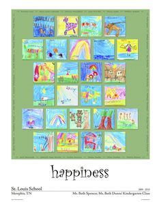 Happiness is....  Kid's Art Project - Children's Art Posters, Kids Art Reproductions, School Fundraisers, Auctions - Seattle, WA