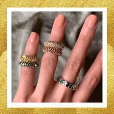 Shimmering ear cuffs (Jade ear cuffs) & rings (Jordan band) from Caramela Jewelry and Accessories Sophisticated Style, Feminine Style, Ear Jewelry, Fine Jewelry, Druzy Ring, Gemstone Rings, Ring Video, Gold And Silver Rings, Ear Cuffs