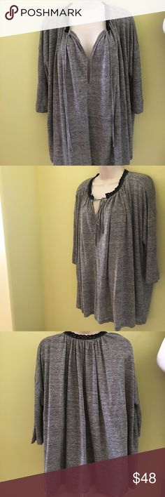 Anthropologie gray linen tunic s new fall Anthropologie gray linen tunic s new fall Anthropologie Tops Tunics