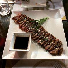 Tataki de lomo bajo de wagyu  #tataki #japanese #wagyu #pornfood #foodie #yummy by fjalvarezb