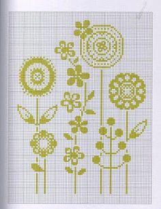 Диаграммы вышивки крестом и ремесла: Монохроматические