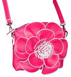 Fuschia Flower Cross body Messenger Purse : Womens Gifts,Womens Accessories,Womens Boutique,Unique gifts for Women,Unique Women Gifts