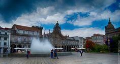 Magnífico centro da cidade de Braga