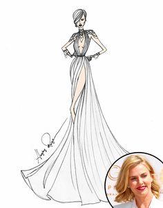 Angel Sanchez from Designer Wedding Dress Sketches for Sofía Vergara, Lady Gaga & More