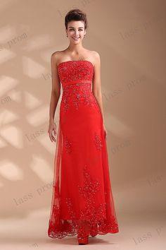 Red Wedding Dress Wedding Gown ALine Elegant Corset by lassprom, $170.00