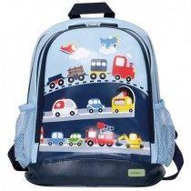 Children's Large PVC Backpack - Traffic