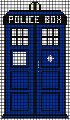 "I found a TARDIS cross stitch pattern online, but it was very sloppy (too skinny, and the letters [""POLICE BOX""] were just white squares). I used it, however, as a basis for this. I'm going to make..."