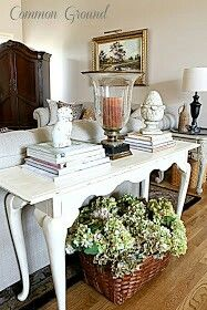 How to display on sofa table without clutter!