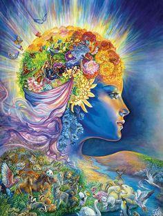 """The Presence of Gaia 3"" par Josephine Wall"