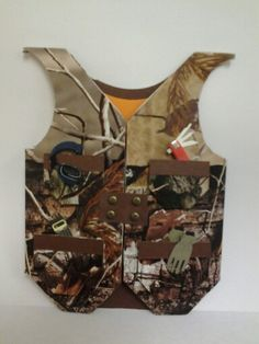 Hunting vest made by Donna Garvin. Idea from Porchswingcreations.blog