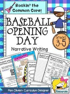 Baseball Opening Day Narrative Writing