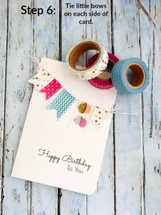 Create a DIY Washi Tape Birthday card in minutes @traciandco.com