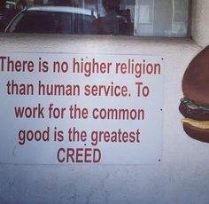 Higher religion...