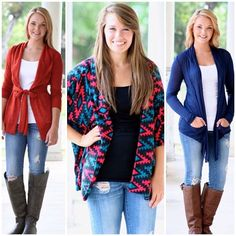 What's your favorite H&O Cardigan?! These are some of our top picks!!! ➡Starting at only $29 + free shipping! #cardigans #blazer #fabfinds #fallfashion #falllook #layering #comfyandcute  #happyhumpday #beautyandstyle #popularstyles #ootd #bestdressed #getthelook #fashionandstyle #fashionista #freeshipping #dressupjeans #stylishandtrendy #areyoureadyforfall #instastyle #instafashion #toptrends  (at http://www.hazelandolive.com/)