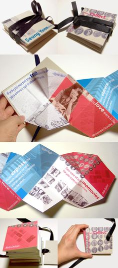 Influence / Inspiration / Intent: Accordion book project, 2005