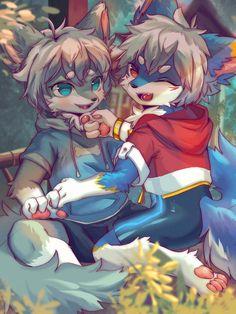Cute Animal Drawings, Cute Drawings, Cute Cartoon Animals, Cute Animals, Anime Furry, Furry Drawing, Anthro Furry, Cyberpunk Art, Cute Characters