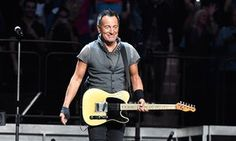 Bruce Springsteen at a concert in New York.