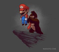Les illustrations marrantes de jeux-vidéo Naolito