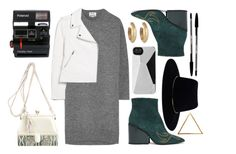 """""""deathly"""" by ihmarnaya ❤ liked on Polyvore featuring Acne Studios, MANGO, Judith Leiber, Marc by Marc Jacobs, Zimmermann, House of Harlow 1960, Polaroid, Glenda López and vintage"""