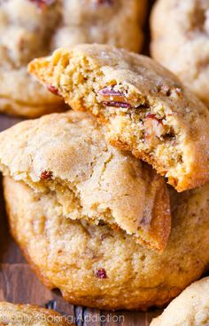 From classic chocolate chip cookies to coconut macaroons this list of the best cookie recipes has you covered, no matter what your sweet tooth is craving! Pecan Cookie Recipes, Butter Pecan Cookies, Yummy Cookies, Cookie Desserts, Cake Cookies, Just Desserts, Dessert Recipes, Baking Cookies, Sugar Cookies