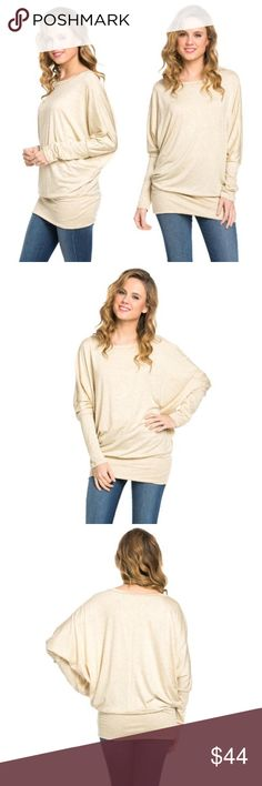 ✨ Dolman Drapey Jersey Long Sleeve Top Plus Size The perfect spring top, lightweight with long sleeves to keep you cozy. Super soft and super comfortable with a stretchy, figure flattering drape. Perfect with leggings and boots! Size XXL/2X  95% rayon 5% spandex  Made in the USA  ❌ Sorry, no trades.  vneck v-neck cold shoulder  0603 fairlygirly Tops Tees - Long Sleeve