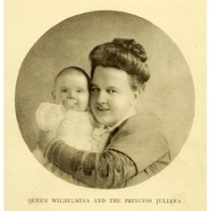 Queen WIlhelmina and the Princess Juliana