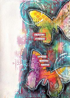 ART JOURNAL PAGE   MAGIC MOMENT   Nika In Wonderland Art Journaling and Mixed Media Tutorials