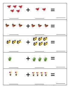 Spring Activities for Kids Teaching Numbers, Numbers Preschool, Preschool Printables, Preschool Learning, Preschool Crafts, Spring Activities, Activities For Kids, Montessori Math, Kindergarten Math Worksheets