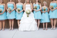 Bridesmaids in Powder Blue| Photo by: thephotolove.com