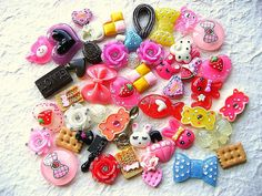 WHOLESALE Kawaii Cabochons MIX DecoSweets 50   Pack by DecoSweets, $17.50