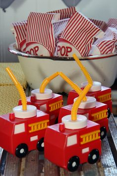Firetruck themed party! Adorable!