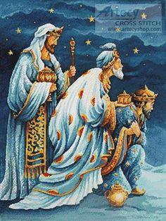 Three Wise Men cross stitch pattern.