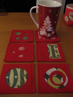 Some felt coasters using reverse applique | Flickr - Photo Sharing!