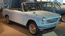 This Italian style car is Conpano Spider of Daihatsu Industories, Japan.