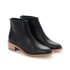I am loving these....Loeffler Randall Felix Bootie in Black leather. A great wardrobe staple #blackbooties