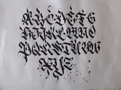 Calligraphy pack 2 / by Mateusz WLK Wolski, via Behance Gothic Lettering, Graffiti Lettering Fonts, Chicano Lettering, Graffiti Alphabet, Script Lettering, Lettering Design, Tattoo Lettering Styles, Types Of Lettering, Calligraphy Fonts Alphabet