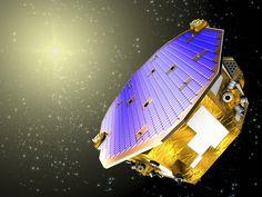Impressão artistíca do experimento LISA Pathfinder, da ESA, escolhido pelos proponentes do projeto MAQRO como um modelo tecnológico para levar a mecânica quântica para o espaço. Crédito da Imagem: ESA.