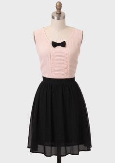 CUte bow and skirt- love the pink too