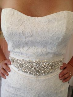 Wedding Dress Embellished Beaded Crystal Belt Wedding Sash