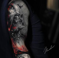 Darth Vader tattoo by Michael Cloutier