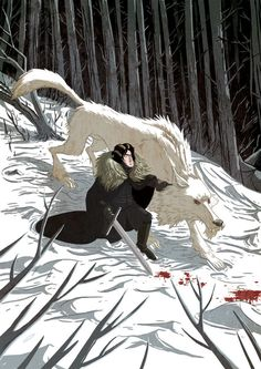 Game of Thrones' Jon Snow and Ghost by Douglas Holgate Jon Snow, Game Of Thrones Wallpaper, Eddard Stark, Fanart, Game Of Thrones Art, Scott Pilgrim, Illustrations, Digital Illustration, Illustration Artists