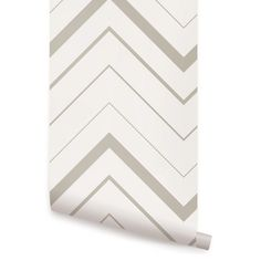 Chevron Bold Grey Peel Stick Fabric Wallpaper Repositionable - Simple Shapes Wall Decals, Furniture, and Accessories