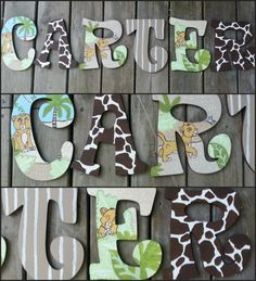 Lion King Inspired Hand Painted Wooden Letters by DanicaBowtique