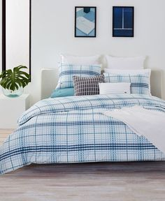 17e05b59f91 Lacoste Home Canet Cotton Twin Twin Xl Duvet Cover Set Twin Twin