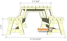 Folding picnic table bench beautiful diy folding bench picnic table bo plans 6 folding portable convertible bench table plans beautiful diy pallet projects how pallets a just used for convertible picnic table and bench Foldable Picnic Table, Folding Picnic Table Plans, Folding Picnic Table Bench, Diy Picnic Table, Wooden Picnic Tables, Diy Bench, Bench Seat, Wood Bench Plans, Garden Bench Plans