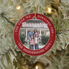 Any Text 2 Photo We Survived Quarantine Red 2020 Ceramic Ornament - tap to personalize and get yours #CeramicOrnament #2 #photo, #two #pictures, #funny, Christmas Photo Cards, Christmas Card Holders, Red Christmas, Christmas Stuff, Funny Christmas, Family Christmas, Holiday Tree, Holiday Cards, Xmas Gifts