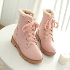 Sweet students thick fleece boots YV7044